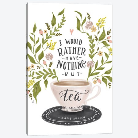 Nothing But Tea Horizontal Canvas Print #LLV158} by Lily & Val Canvas Wall Art