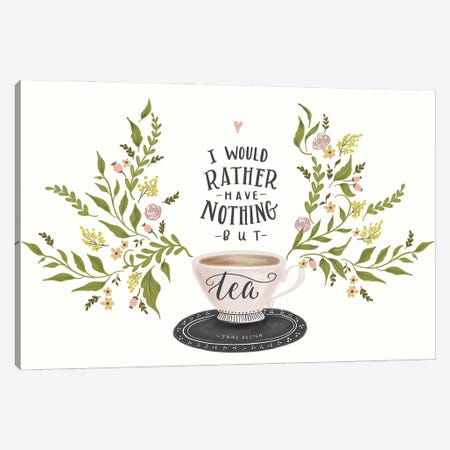 Nothing But Tea Horizontal Canvas Print #LLV159} by Lily & Val Canvas Art