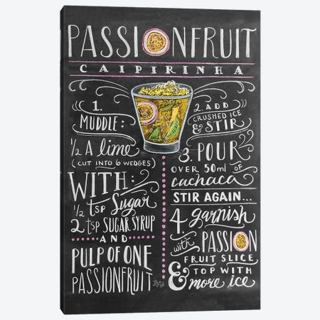 Passionfruit Recipe Canvas Print #LLV161} by Lily & Val Canvas Art Print