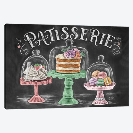 Patisserie Canvas Print #LLV162} by Lily & Val Art Print