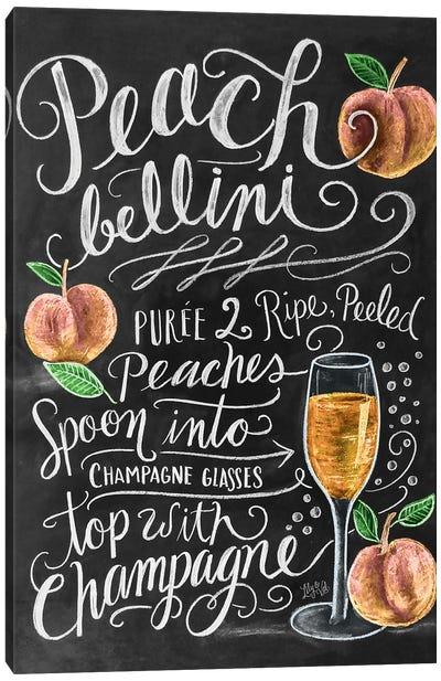 Peach Bellini Recipe Canvas Art Print