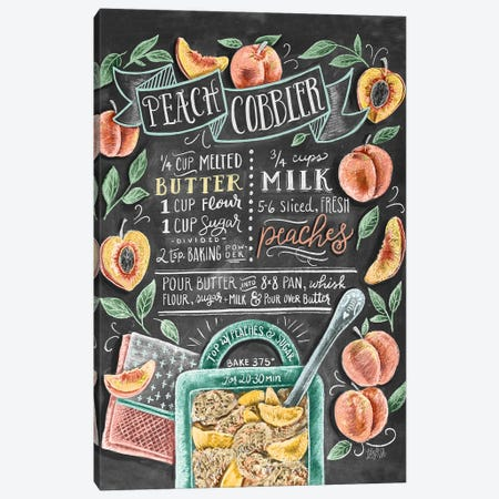 Peach Cobbler Recipe 3-Piece Canvas #LLV164} by Lily & Val Canvas Wall Art
