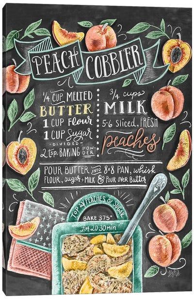 Peach Cobbler Recipe Canvas Art Print