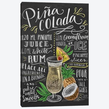 Pina Colada Recipe Canvas Print #LLV168} by Lily & Val Canvas Art Print