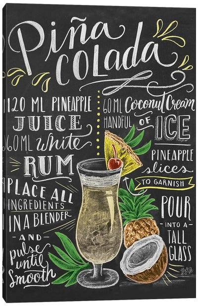 Pina Colada Recipe Canvas Art Print