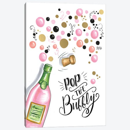Pop The Bubbly Canvas Print #LLV170} by Lily & Val Canvas Art
