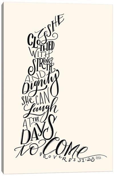 Proverbs 31 Dress I Canvas Art Print