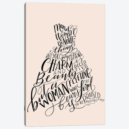 Proverbs 31 Dress II Canvas Print #LLV172} by Lily & Val Canvas Artwork