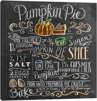 Pumpkin Pie Recipe Canvas Art Print