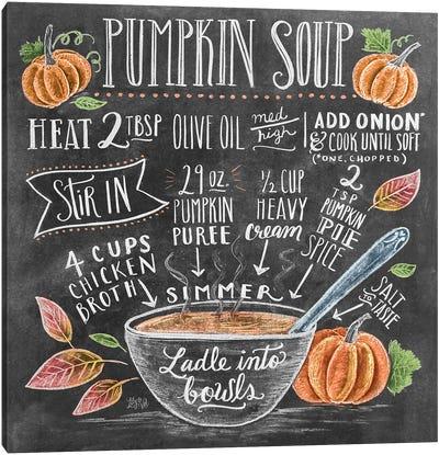 Pumpkin Soup Recipe Canvas Art Print