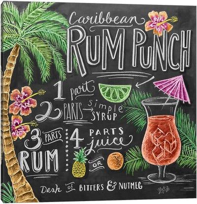 Rum Punch Recipe Canvas Art Print