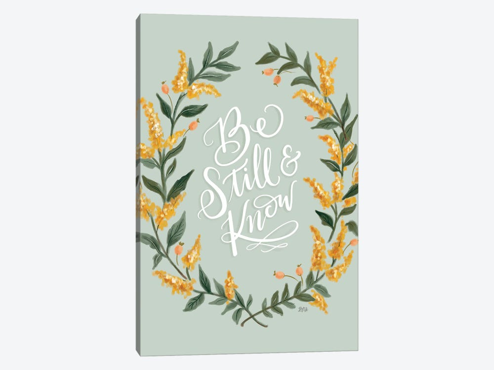 Be Still And Know - Green by Lily & Val 1-piece Canvas Wall Art