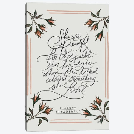 She Was Beautiful Canvas Print #LLV182} by Lily & Val Canvas Art Print