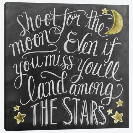 Shoot For The Moon 3-Piece Canvas #LLV183} by Lily & Val Art Print