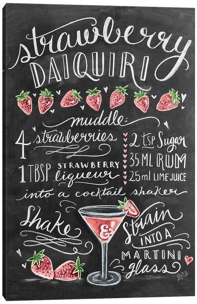 Strawberry Daiquiri Recipe Canvas Art Print