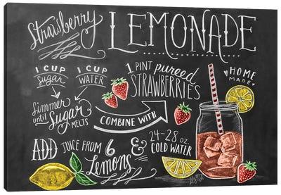 Strawberry Lemonade Recipe Canvas Art Print