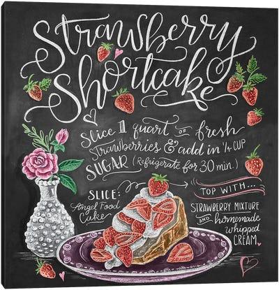 Strawberry Shortcake Recipe Canvas Art Print