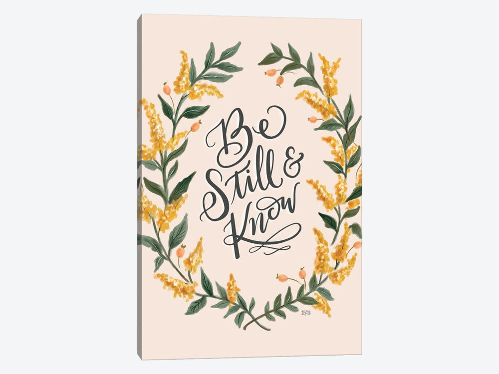 Be Still And Know - Pink by Lily & Val 1-piece Art Print