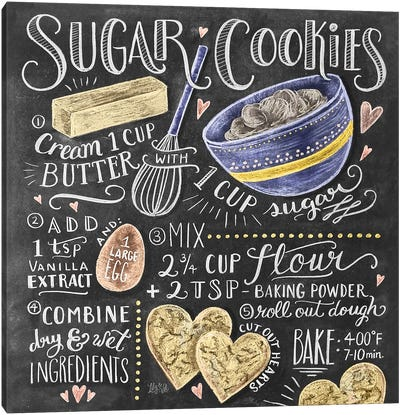 Sugar Cookies Recipe Canvas Art Print