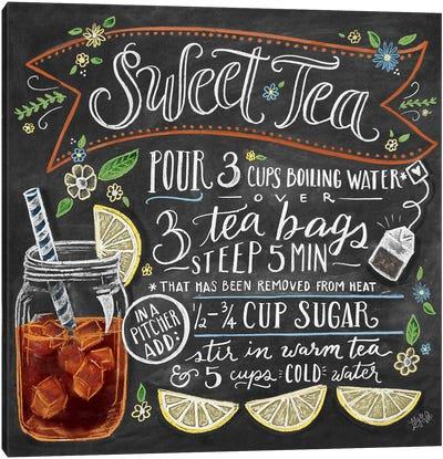 Sweet Tea Recipe Canvas Art Print