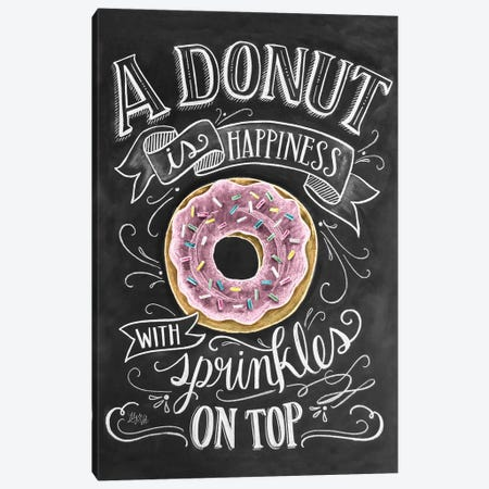 A Donut Is Happiness 3-Piece Canvas #LLV1} by Lily & Val Canvas Wall Art