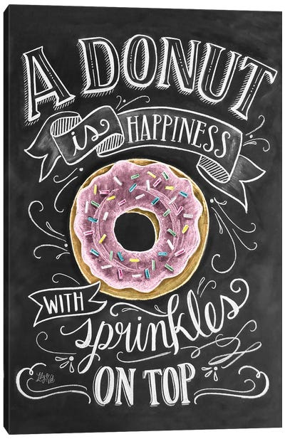 A Donut Is Happiness Canvas Art Print