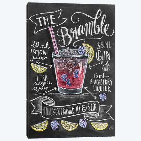 The Bramble Recipe Canvas Print #LLV201} by Lily & Val Canvas Wall Art