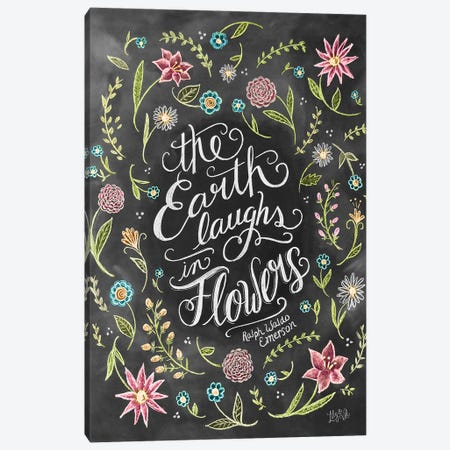 The Earth Laughs In Flowers Canvas Print #LLV202} by Lily & Val Canvas Artwork