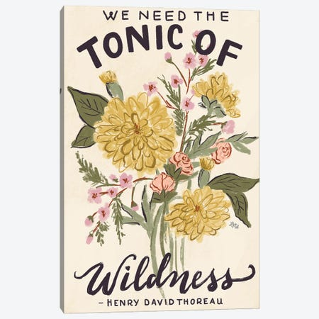 Tonic Of Wildness 3-Piece Canvas #LLV205} by Lily & Val Canvas Art Print