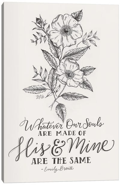 Wedding Quote - Emily Bronte Canvas Art Print