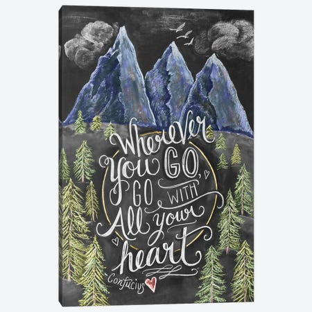 Wherever You Go Mountains Canvas Print #LLV216} by Lily & Val Canvas Wall Art