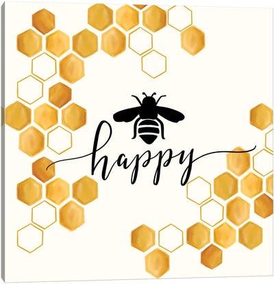 Bee Happy Canvas Art Print
