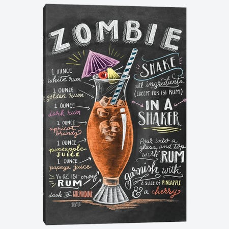 Zombie Recipe Canvas Print #LLV231} by Lily & Val Canvas Print