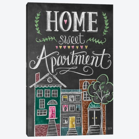 Home Sweet Apartment 3-Piece Canvas #LLV233} by Lily & Val Canvas Art Print