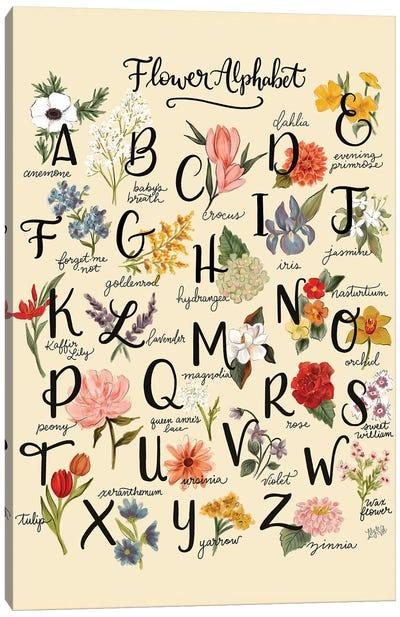 Flower Alphabet Canvas Art Print