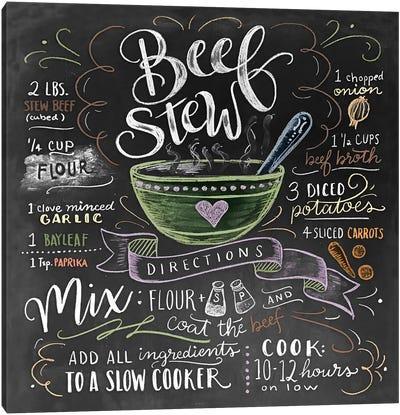Beef Stew Recipe Canvas Art Print