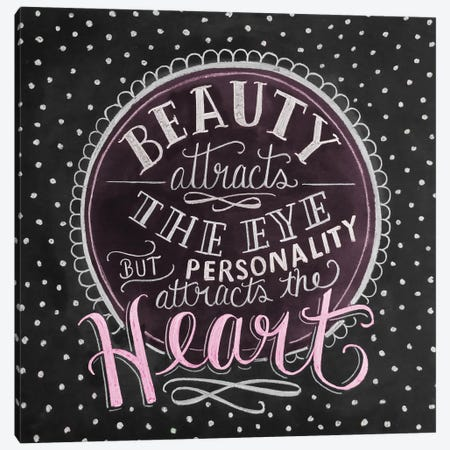 Beuaty Attracts The Eye - Pink Canvas Print #LLV26} by Lily & Val Art Print