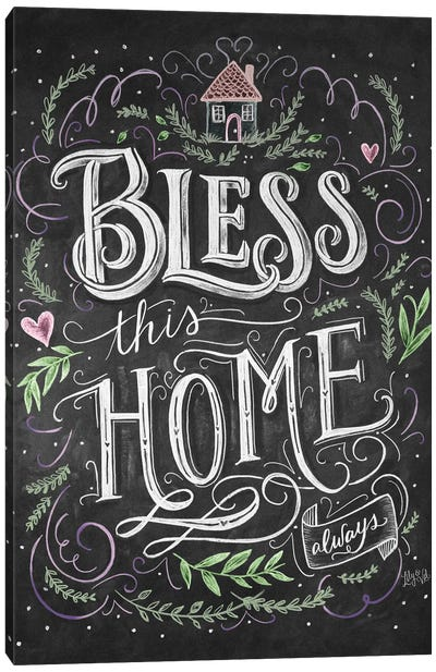 Bless This Home Always Canvas Art Print