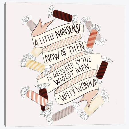 A Little Nonsense Baking Canvas Print #LLV2} by Lily & Val Canvas Art