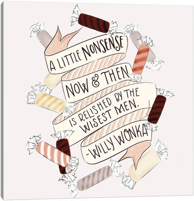 A Little Nonsense Baking Canvas Art Print