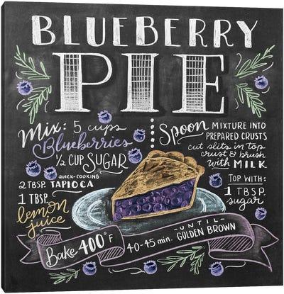 Blueberry Pie Recipe Canvas Art Print