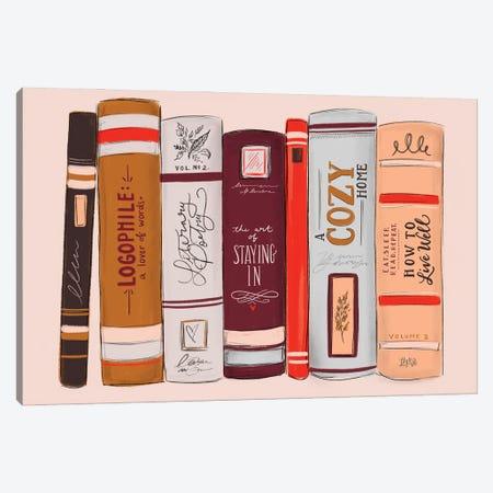 Bookish Canvas Print #LLV32} by Lily & Val Art Print