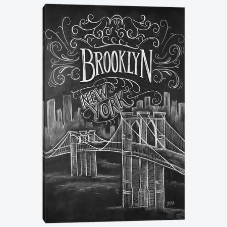 Brooklyn Bridge Canvas Print #LLV33} by Lily & Val Canvas Art Print