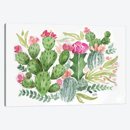 Cactus Canvas Print #LLV36} by Lily & Val Canvas Art