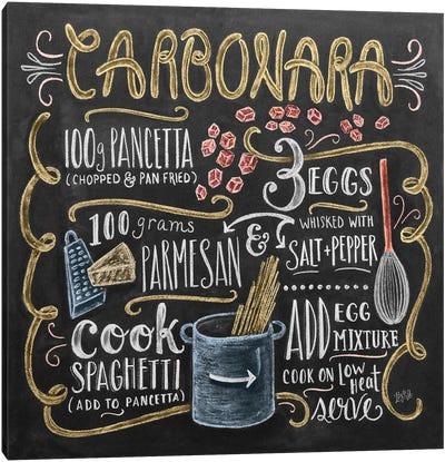 Carbonara Recipe Canvas Art Print