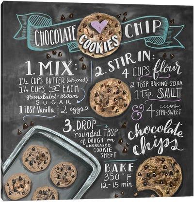 Chocolate Chip Cookies Recipe Canvas Art Print