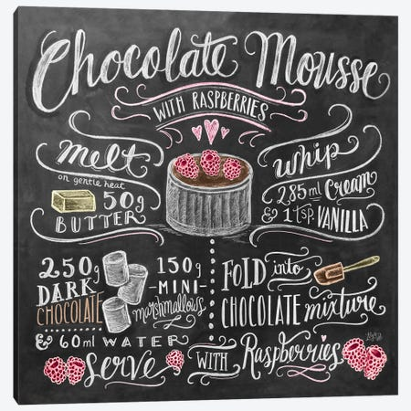Chocolate Mousse Recipe Canvas Print #LLV45} by Lily & Val Canvas Print