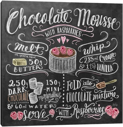 Chocolate Mousse Recipe Canvas Art Print
