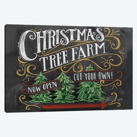 Christmas Tree Farm Canvas Print #LLV46} by Lily & Val Canvas Print