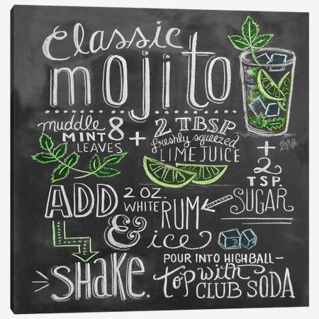 Classic Mojito Recipe Canvas Print #LLV47} by Lily & Val Canvas Art Print